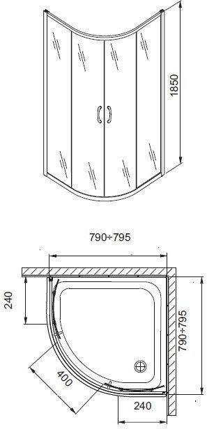 Aquaform Nigra 80x80 100-091111