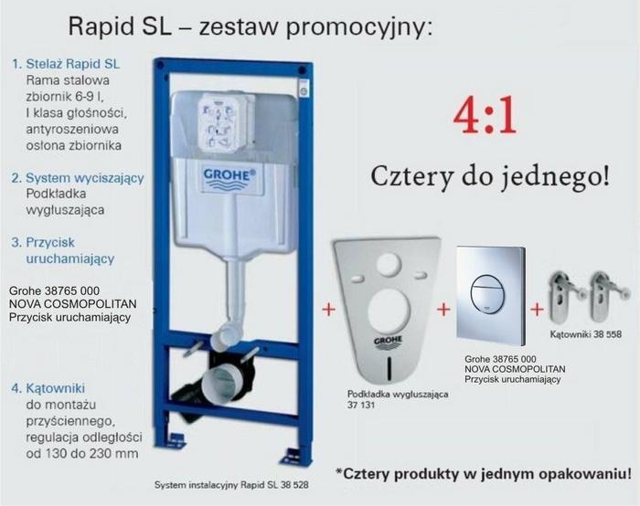 grohe stela wc rapid sl 4w1 przycisk nova nowo ceny. Black Bedroom Furniture Sets. Home Design Ideas