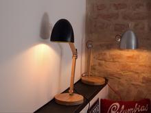 Beliani Lampa biurowa czarna - stołowa - nocna - gabinetowa - VELEKA czarny