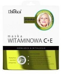 Lbiotica Maska Witaminowa C+E w postaci nasączonej tkaniny 1szt.