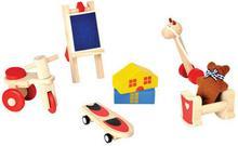 Drewniane mebelki dla lalek - akcesoria do domku dla lalek - Zabawki dla lalek,