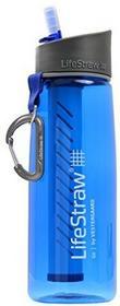 Go LifeStraw /butelka na napoje z filtr do wody//usuwa 99,9999% bakterii i 99,9% pierwotniaki//Idealny na wędrówki, trekking, camping, podróży i not stanu gotowości., niebieski, M LSGO01221