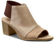 Nessi Sandały 80706 Beż Lizaro/Beż 19 materiał/-materiał, skóra naturalna/-welur, skóra naturalna/-nabłyszczana