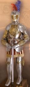 Płatnerze hiszpańscy GRAWEROWANA Zbroja Z XVI W. Z WIZERUNKIEM GORGONY