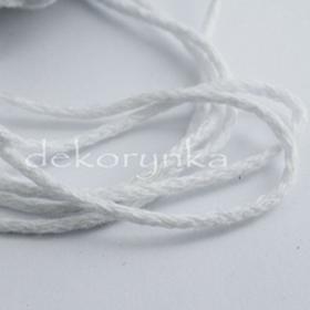 3m Sznurek bawełniany 2,5mm - SUPER JAKOŒĆ - sb02 biały