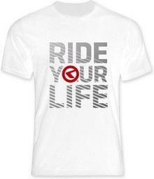 Kellys Koszulka T-shirt RIDE YOUR LIFE white
