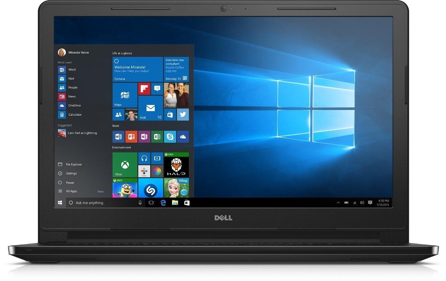 """Dell Inspiron 15 ( 3552 ) 15,6"""" HD, Pentium N3710, 500GB HDD, 4GB RAM, HD405, W10H"""