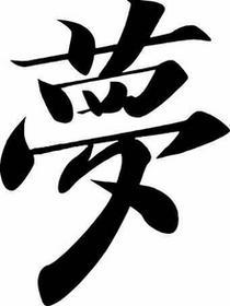 Naklejka kanji marzenie