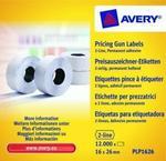 Avery Zweckform Etykiety cenowe w rolce do metkownicy dwurzędowej; trwałe; 1200