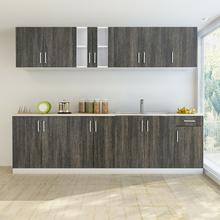 vidaXL vidaXL Zestaw szafek kuchennych 8 sztuk z częścią na zlew w kolorze wenge