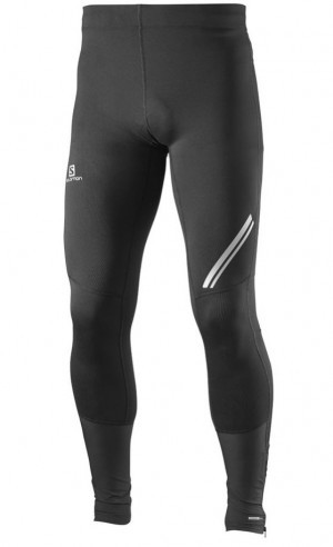 Salomon LEGINSY MĘSKIE AGILE LONG TIGHT M 371185 czarny