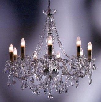 Kare Design Lampa Gioiello Crystal Clear 9-arms 60541