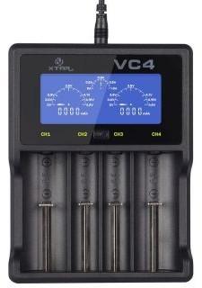 Xtar VC4 Ładowarka do akumulatorów cylindrycznych Li-ion i NiMH
