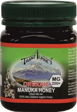 Manuka Health New Zealand MIÓD MGO 250+ BIO 250 g - TRANZALPINE