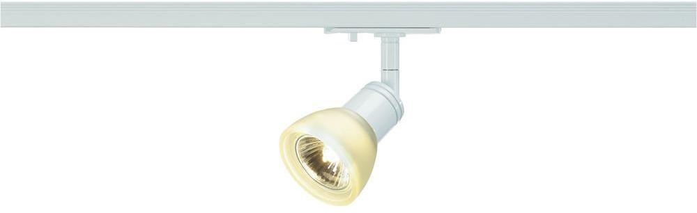 SLV Lampa systemu szynowego jednofazowego 143451 1fazowa Halogen LED GU10 230 V 50 W biały