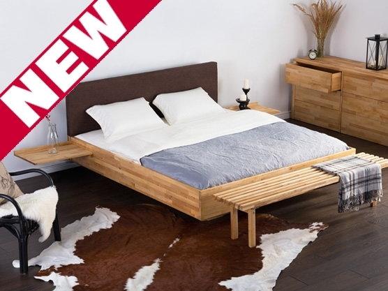 Beliani Podwójne łóżko Drewniane Ze Stelazem 180x200 Cm
