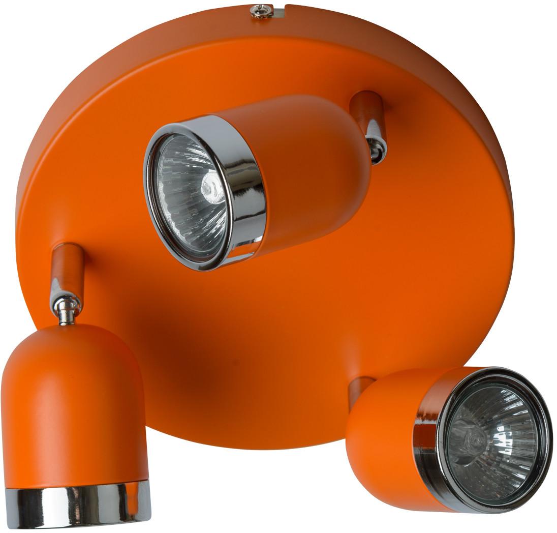MW-LIGHT Reflektor sufitowy potrójny MW-LIGHT Techno pomarańczowy 546021103