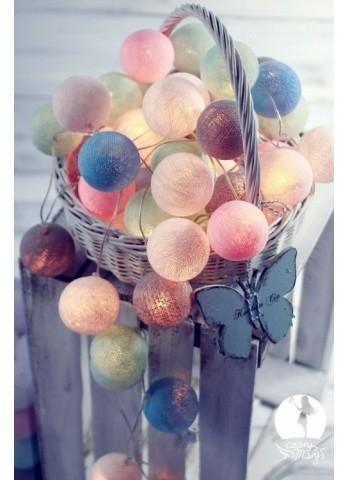 Cotton Ball Lights Kolorowe kulki kompozycja - CzaryMaryś