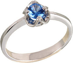 Tyfanit Delikatny srebrny pierścionek koronka R25