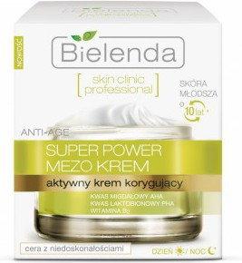 Bielenda Skin Clinic Professional MEZO Terapia Korygująca Aktywny Krem Korygujący Anti-Age Na Dzień i Na Noc 50ml