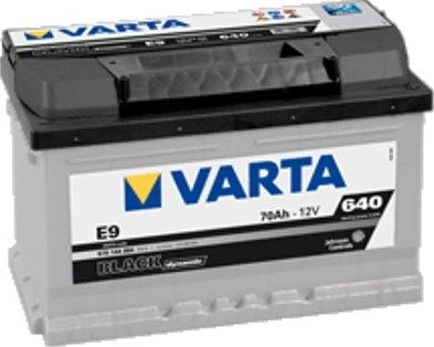 Varta Black Dynamic E9 70 Ah 640 A)