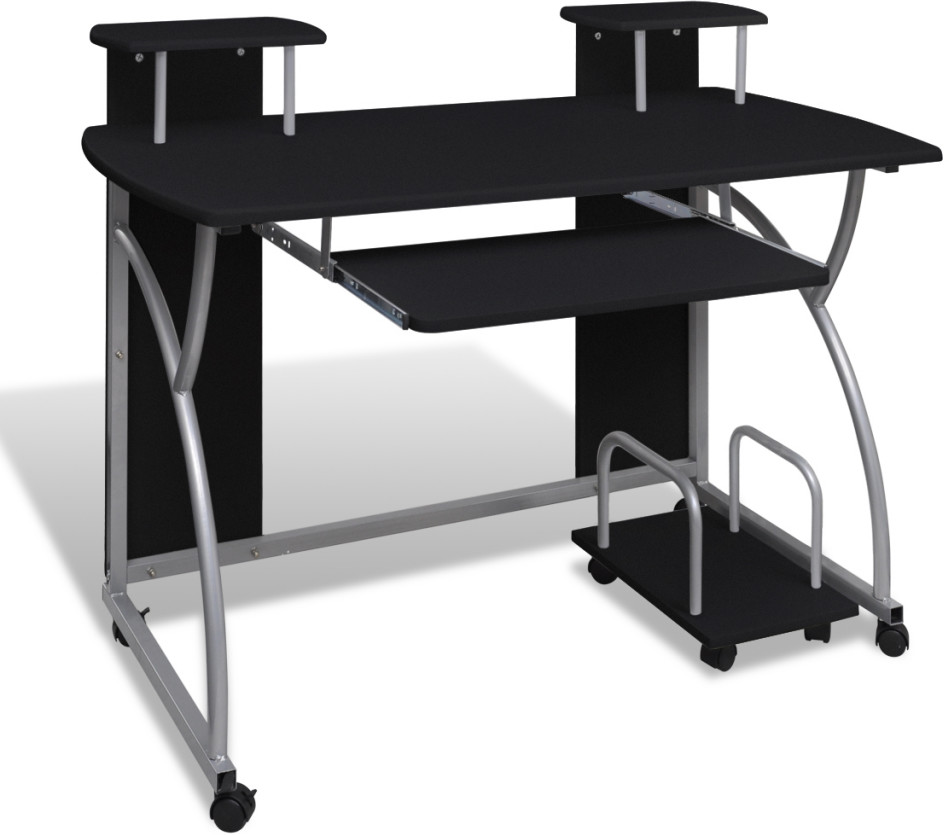 Biurko komputerowe na kkach czarne