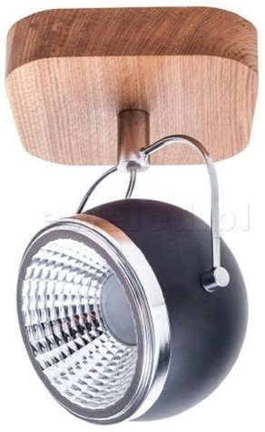 Spotlight BALL WOOD reflektor 1x5W LED czarny 5033174