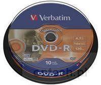 Opinie o Verbatim Dysk DVD-R 16x 10cake LightScribe 43643