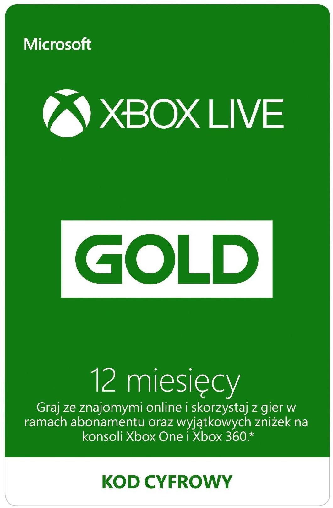 Opinie o Microsoft Xbox Live Gold 12