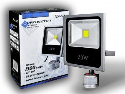 Polux Naświetlacz LED 20W 200W zimna barwa światła, LPP10CWSGB COB IP65/IP54 302 (302403)