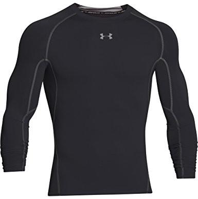Under Armour Heat Gear koszulka kompresyjna z długim rękawem, męska, czarna/szara, M, 1257471-001-MD 1257471