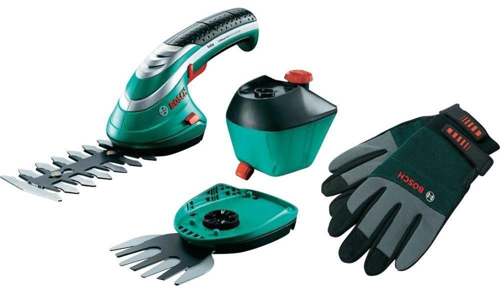 Bosch Akumulatorowe nożyce do trawy i krzewów Isio zestaw XXL 060083310K Napęd Akumulatorowy Długość noża 120 mm 550 g