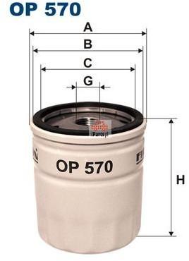 Filtron Filtr oleju OP570