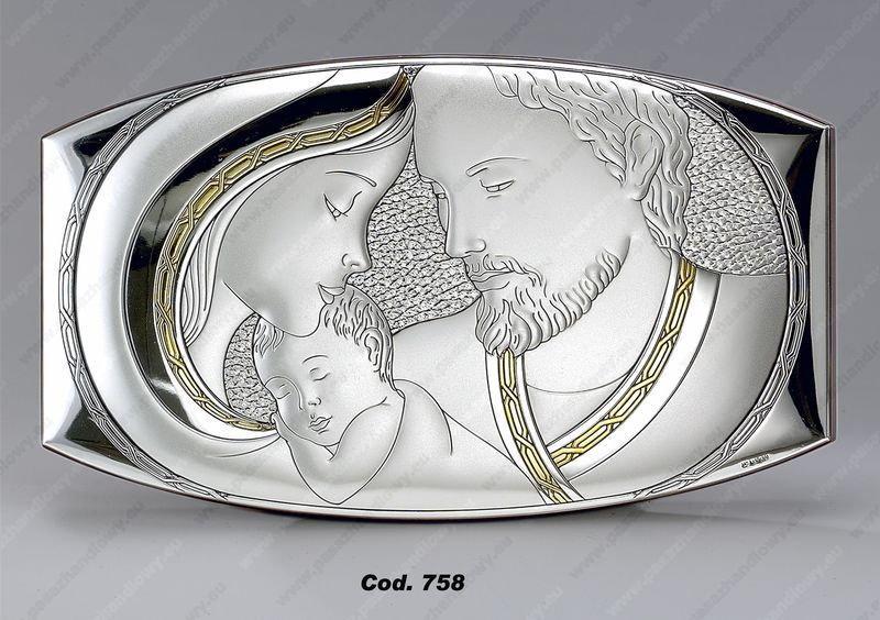 Valenti & Co Obrazek Święta Rodzina ze złoceniem - (v#758)