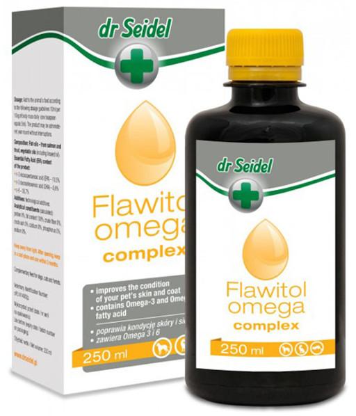 Dr Seidla Flawitol Omega Complex olej rybny dla Psa i Kota 250 ml