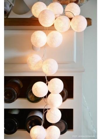 Cotton Ball Lights Kolorowe kulki kompozycja - Pure White