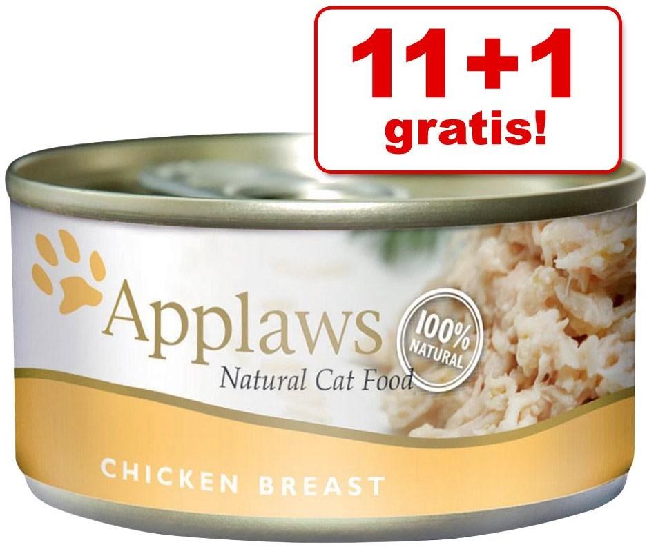 Applaws 11 + 1 gratis! karma dla kota 12 x 156 g Pierś z kurczaka