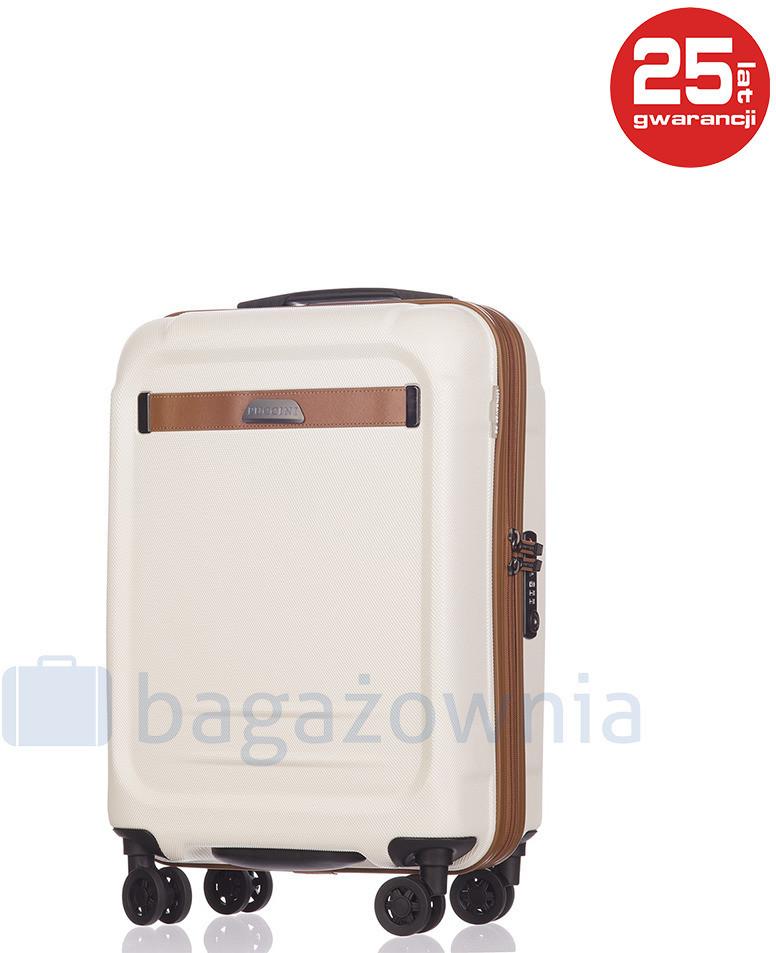 aedf66b2b04f7 Puccini Mała kabinowa walizka STOCKHOLM PC020C 8 Biała - biały PC020C 8