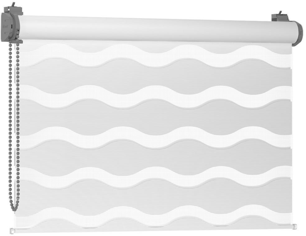 Karnix Rolety Dzień Noc Mini WAVE - White / Szary