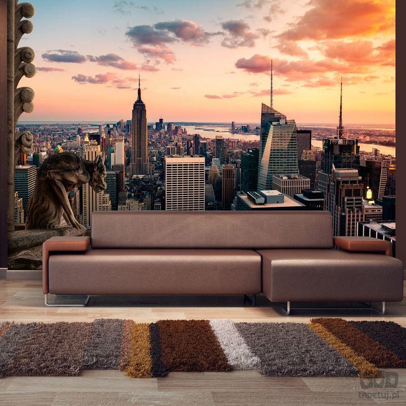 Murando Fototapeta Nowy Jork: wieżowce i zachód słońca d-A-0011-a-a d-A-0011-a-a