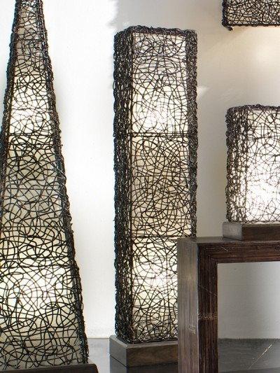 Bortoli Lampa prostokątna z croco-rattanu Croco - 125 cm