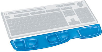 Fellowes Podkładka żelowa przed klawiaturę Health-V Crystal 9183201 / 9183101 /