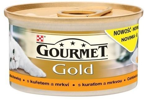 Purina Gourmet Gold Savoury Cake z Kurczakiem i marchewką 85g 13063