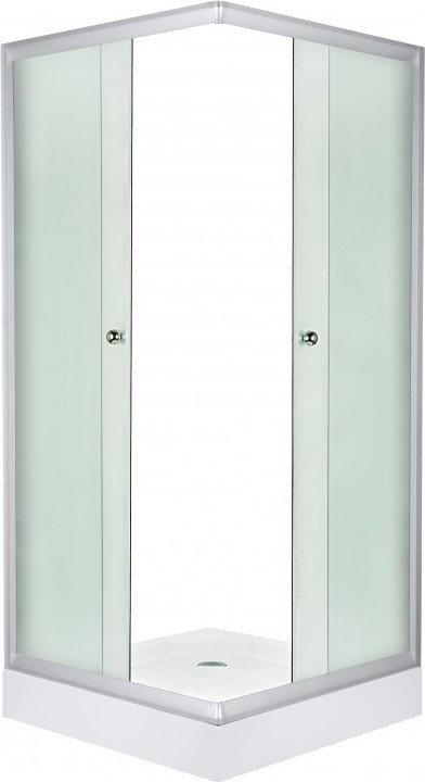 Novoterm Kerra Pico 70x70 profil satyna szkło faktura lnu + brodzik