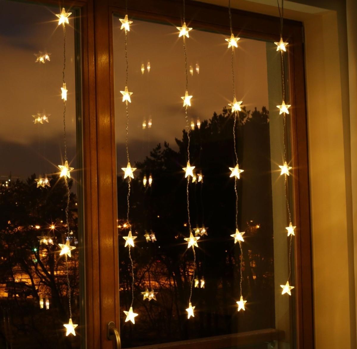 Bulinex : Kurtyna świetlna LED gwiazdki 25L kolorowe 216118