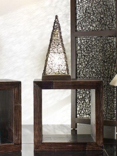 Bortoli Lampa piramida z croco-rattanu Croco - 50 cm