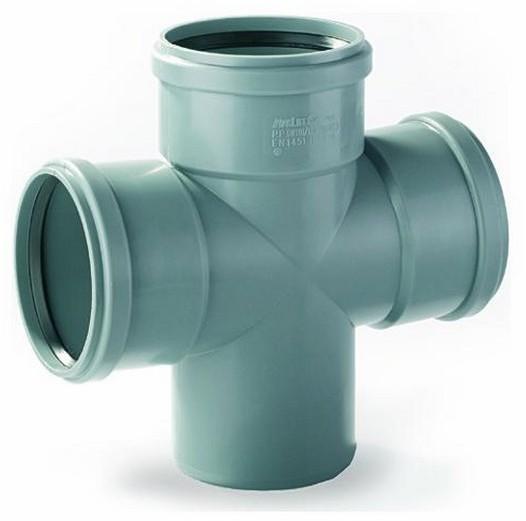 Opinie o Pipelife Czwórnik do kanalizacji wewnętrznej 88° 110 x 110 mm