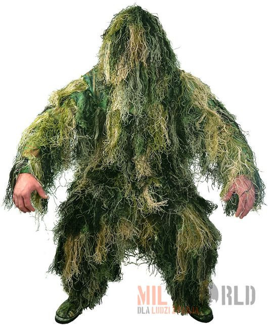 Mil-Tec Strój Maskujący Maskowanie Ghillie Suit Woodland