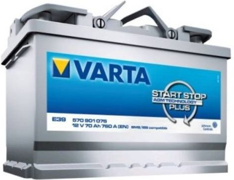 Varta START STOP PLUS AGM E39 - 70Ah 760A P+