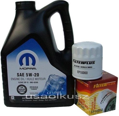 MOPAR & ATLAS Olej 5W20 oraz filtr oleju silnika Dodge Avenger 2008-
